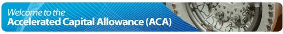 ACA accelerated capital allowance
